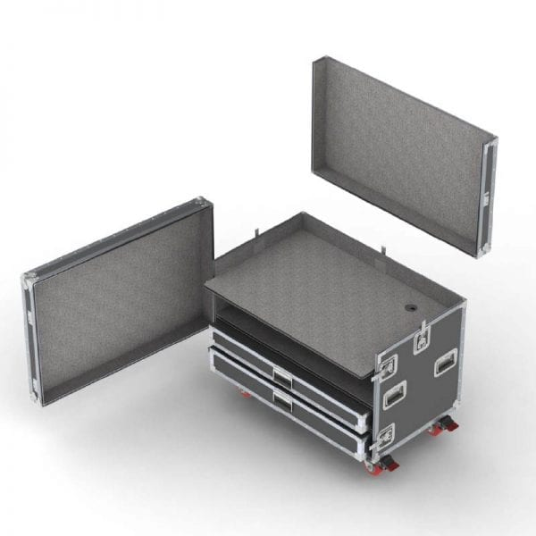 56-763 flight case for mixer console