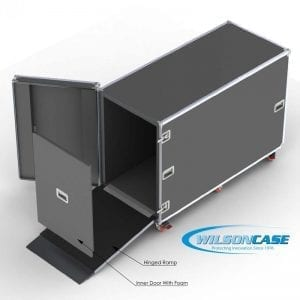 44-3039 Custom shipping case with ramp for HP Z5400 Plotter